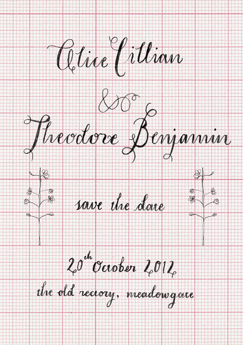 web SAVE THE DATE ALICE & THEO flower