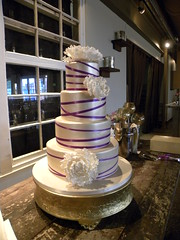 Modern Purple Ribbon Cake
