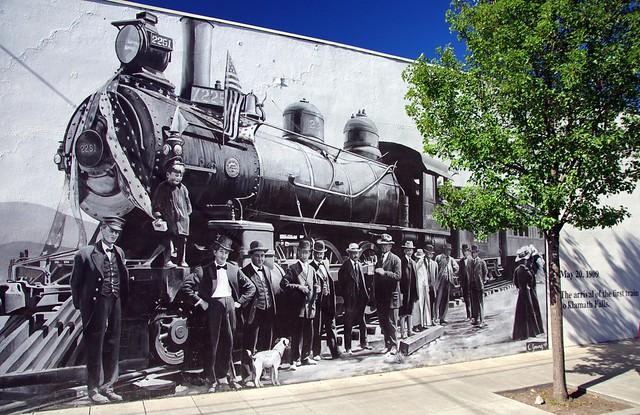 street art May 20th 1909 First Train arrives at Klamath Falls, Oregon