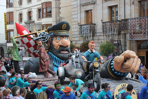 Desfile de carrozas fiestas San Mateo 2012