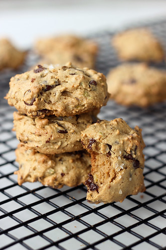 Grain-free Pistachio Chocolate Chip Cookies with Sea Salt - Gluten-free + Dairy-free (Vegan option)