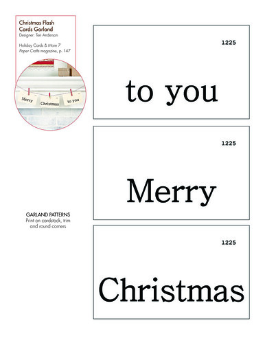 Christmas Flash Cards Garland pattern