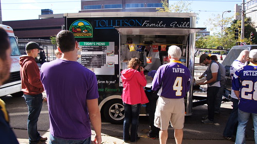 Railgating on the Purple Path Prior to the Minnesota Vikings Game on September 23, 2012