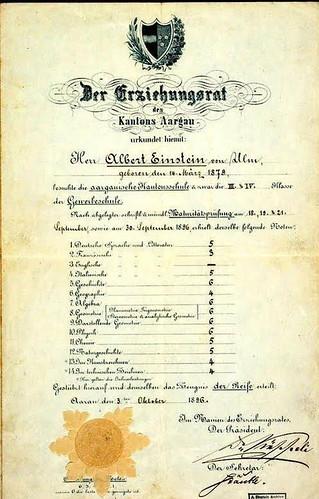 Einstein's diploma.