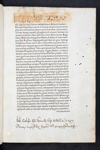 Monastic ownership inscription in Eusebius Caesariensis: Historia ecclesiastica