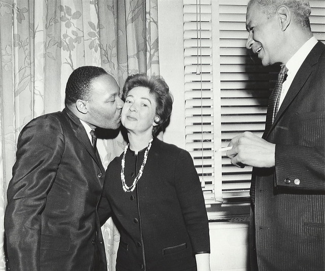 Martin Luther King, Jr. kisses Betsy Berry