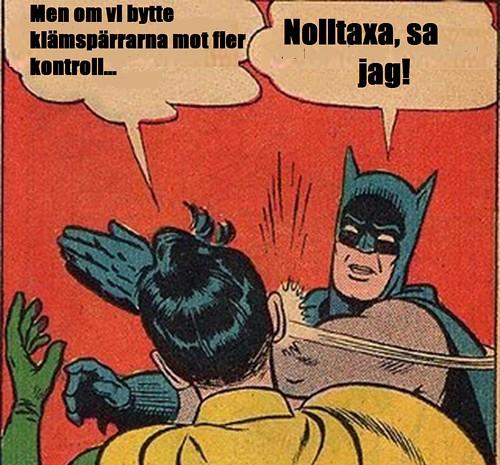 Batman & Robin i kollektivtrafikdebatt