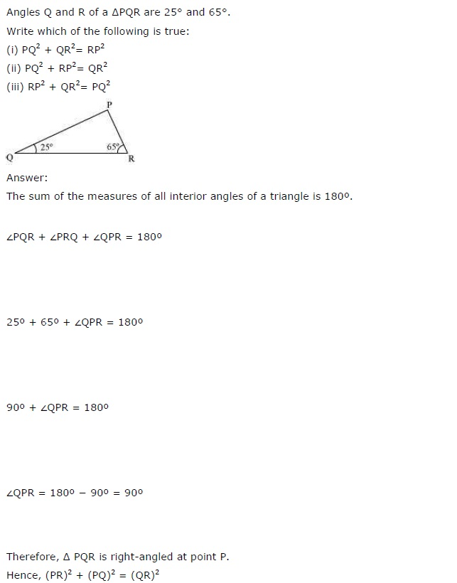 NCERT Solutions for Class 7th Maths Chapter 6 The-Triangle-and-its-Properties Exercise 6.5