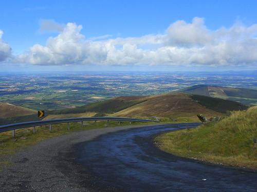 road landscape track view carlow mountleinster sharpbend blackstairsmountains