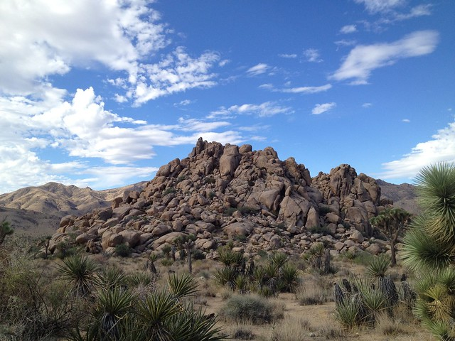 Large rock formations, Joshua Tree National Park