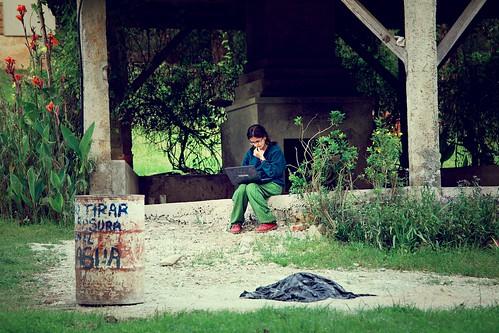 True digital nomad..