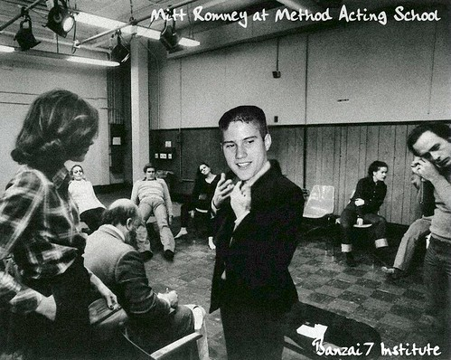 YOUNG ROMNEY AT ACTING SCHOOL by Colonel Flick