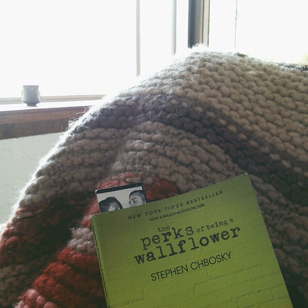 Almost done, I love this book, cried a lot, laughed a bit, felt a lot. #theperksofbeingawallflower