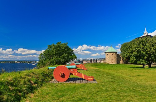 Shooting Cannons - A Sunny Postcard from Akershus Fortress in Oslo