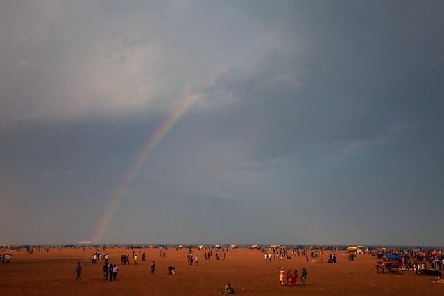 Rainbow at Marina!