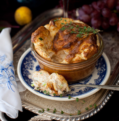 Salmon Souffle and Wine 4