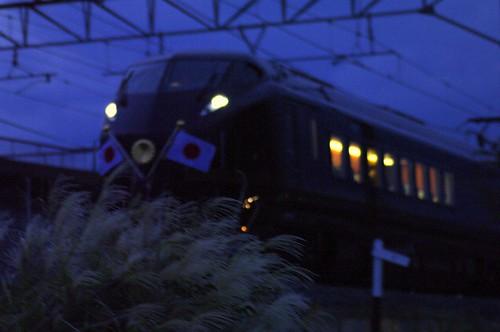 巡幸列車 暗くなっちゃった…