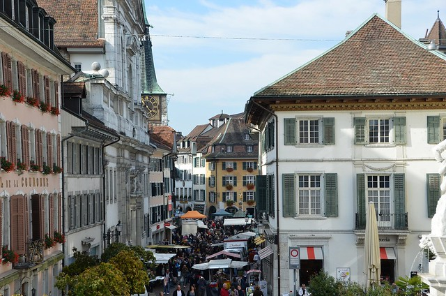 Marktgasse from St. Urs Stairs