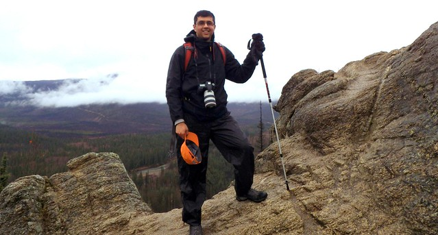 Neerav Bhatt hiking in Alaska
