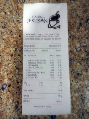 Burgos | El Fogón de Jesusón | Ticket