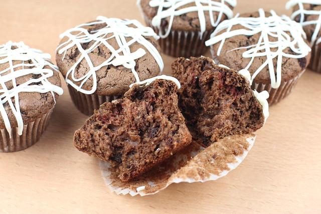 Chocolate Chocolate Chocolate Chip Muffins