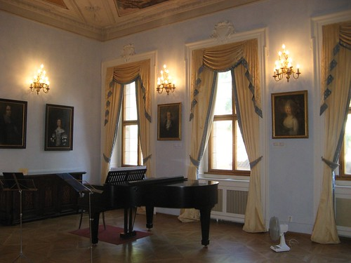 Concert room of Lobkowicz Palace in Prague Castle, Czech Republic