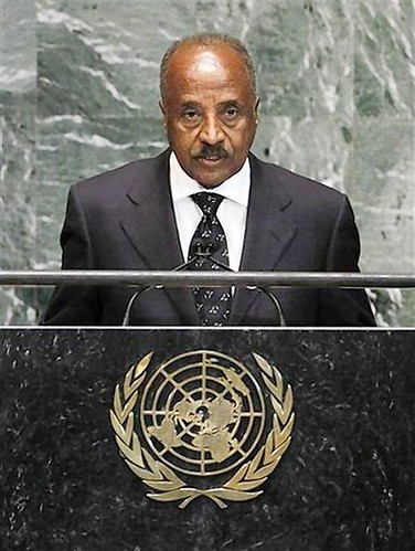 Minister for Foreign Affairs of Eritrea, Osman Mohammed Saleh, addresses the 67th United Nations General Assembly at the U.N. Headquarters in New York, October 1, 2012. REUTERS/Lucas Jackson by Pan-African News Wire File Photos