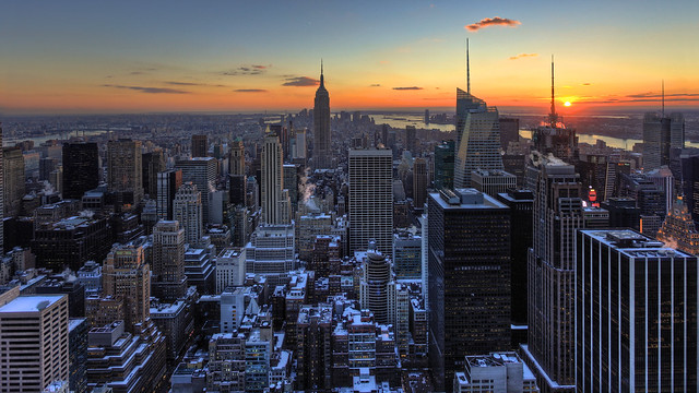 Manhattan Winter Sunset