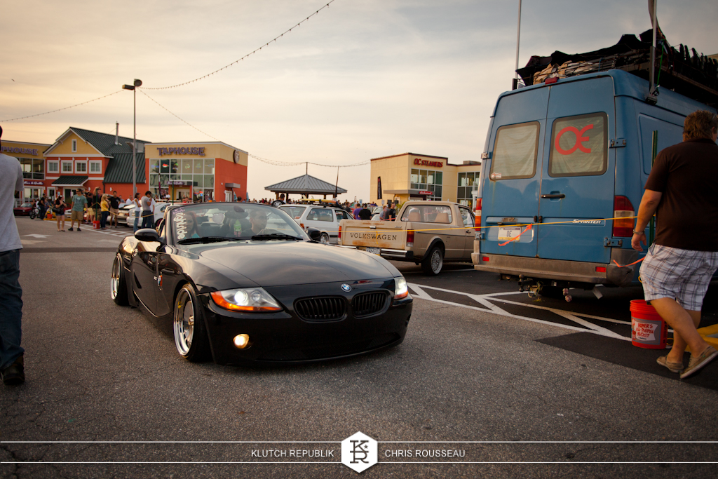 black bmw z4 schmidt th lines  at h2oi 2012 3pc wheels static airride low slammed coilovers stance stanced hellaflush poke tuck negative postive camber fitment fitted tire stretch laid out hard parked seen on klutch republik