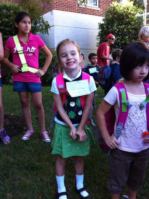 Emma - First day of Kindergarten 2012