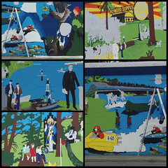 New Kenmore Mural in Progress, Washington