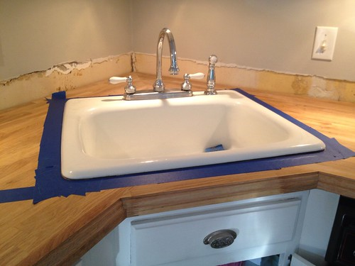 ikea butcher block countertops with faucet   Stick a Fork in Them: The IKEA Butcher Block Counters are ...