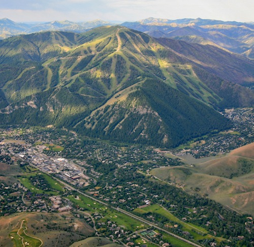 Sun Valley region aerial