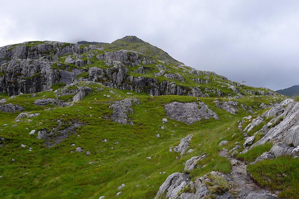 Heading up Sgurr nan Coireachan
