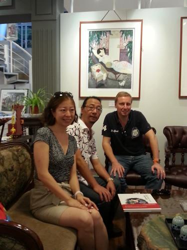 With Li Shoubai in his gallery