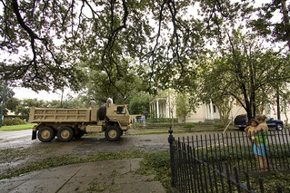 Isaac_National Guard on St. Charles Ave.