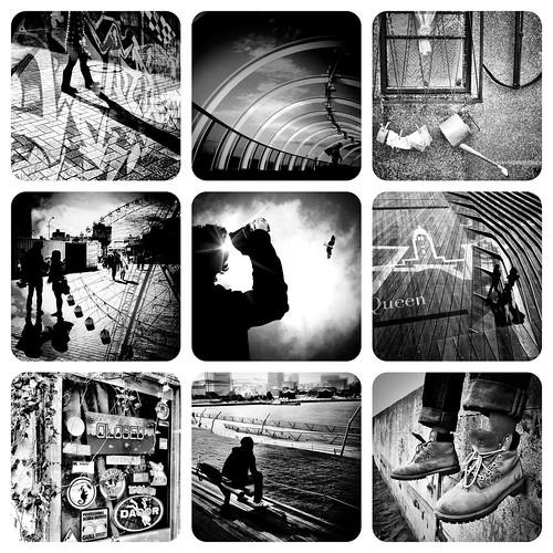 nine pieces (B&W)