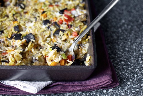 baked orzo with eggplant