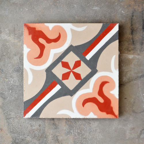 Cement Tile - Peach & Orange
