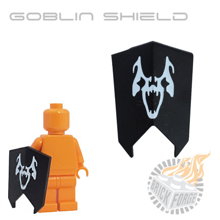 Goblin Shield - Black (White Ghoul Print)