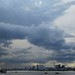 Storm view: Looking west from Woolwich to Canary Wharf and The Shard