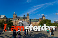 I amsterdam in front of the Rijksmuseum