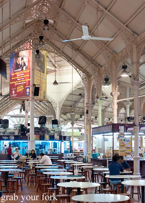 inside lau pa sat festival market hawker market singapore