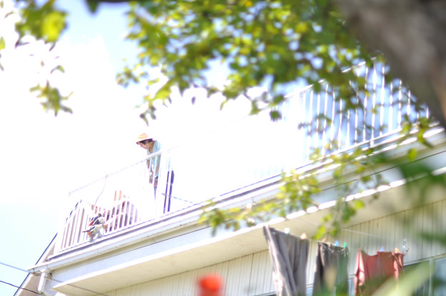 Annie-on-veranda