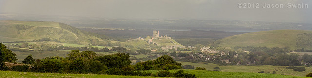 Morning at Corfe Castle
