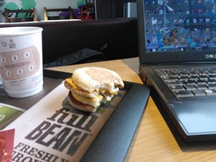 Laptop and McMuffin