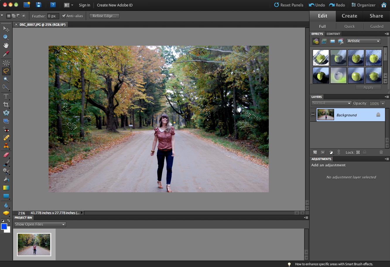 Photoshop Elements: Autumn Effect — Selective Potential