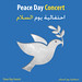 Poster for UNDP's Peace Day Concert in Baghdad with Naseer Shamma, 2012