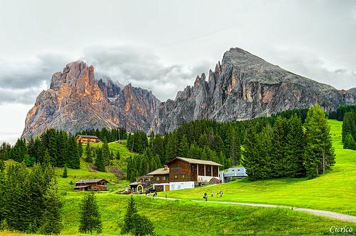 Alpe di Siusi, Seiser Alm - Il gruppo del Sassolungo - Langkofel by cicrico