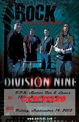 09/14/12 Division Nine @ I.D.K. Sports Bar & Lanes, Atwater, MN - CANCELLED
